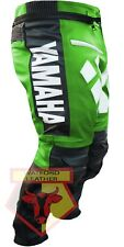 YAMAHA R GREEN MOTORBIKE MOTORCYCLE BIKER COWHIDE LEATHER ARMOURED PANT/TROUSER
