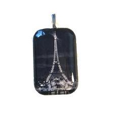 EIFFEL TOWER Pendant Necklace Paris Romantic Trip Memory B+W France City Lights