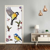 Removable Home Decor Door Wall Sticker Self Adhesive Animals Birds and flowers