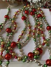 Beautiful Vintage Mercury Glass Christmas Tree Garland ~ 98� Vintage & Czech!