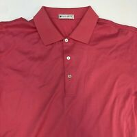 Peter Millar Polo Shirt Men's Large Short Sleeve Pink High Low Hem Casual Cotton