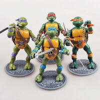 1988 Playmates TMNT Teenage Mutant Ninja Turtles Leonardo Set of 4 No Boxed