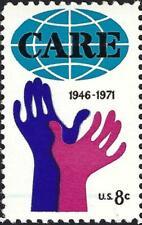 1971 Care Overinking Thin Blue Line Ink Error Freak Oddity Efo Stamp Mint! #1439