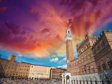 Fotografia Cityscape Piazza del Campo Siena Italia art print poster mp3334b