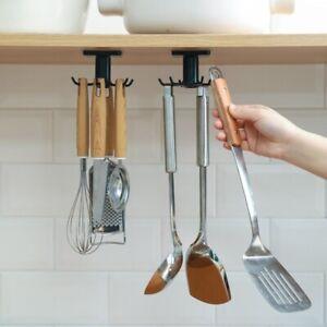 Kitchen Bathroom Tools Home Accessories Hook Wall Storage Rotation Spoon Rack