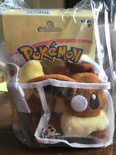 Pokemon plush eevee with plastic carry tote *NEW*