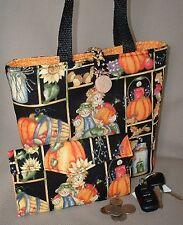 Scarecrows 'n Pumpkins Handbag ~ Purse with Wallet