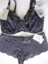 SIMONE PERELE Eden 12F / 34F Full Cup Bra Sz 3 Shorty Ash Blue Chantilly Rrp$185
