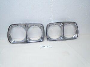 73 74 75 76 Ford Torino Ranchero Chrome Headlight Bezel Rings Pr 1973 1974 1975