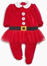 New Christmas Red Playsuit Tutu Babygrows NEXT Age 9-12 Months
