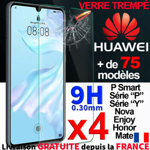 Pour Huawei P30 Mate 20 Enjoy Honor 20 Lite Verre Vitre Ecran Screen Protector