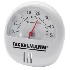 Fackelmann Round White Plastic Magnetic/free Standing Thermometer - Magnetic