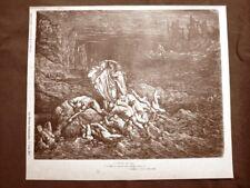 Incisione di Gustave Dorè del 1890 Stige e Iracondi Divina Commedia Inferno