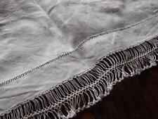 Vintage White Damask Linen Table Mat,Runner,Centre~Net,Netting Lace