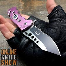 TAC FORCE TACTICAL EMT Spring Assisted Knife Open Folding Pocket Blade PINK EMS