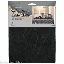 1.47m x 2.29m Halloween Party Black Lace Spider Web Fabric Table Cover
