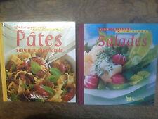 Lot de 2 livres bien cuisiner bien vivre Pâtes saveurs du monde  + salades