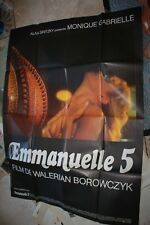 EMMANUELLE 5 French Movie Poster 47x63 1987 Walerian Borowczyk  sexy Poster