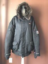 Men's North Sportif Black Faux Fur Hooded Winter Parka Jacket Size XXL