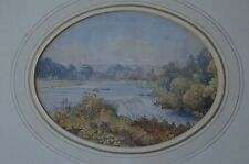 19th Century Matthew William Ed Gusset Attributed The Liffey Dublin Watercolour