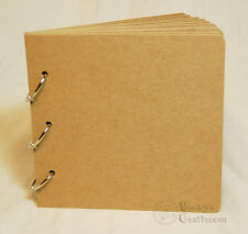 "BULK 5 of 5.5""x5.75"" Bare Chipboard Album 10 pages 3 rings - use 6x6 paper pads!"