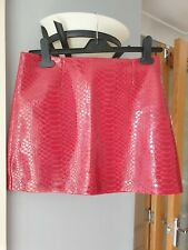 Size 6 Skirt River Island Red Faux Leather Sexy Fetish Zip Up Skirt