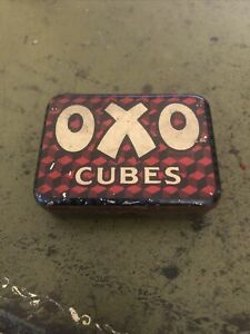 Oxo Cubes Old Vintage Tin - Holds 12 Oxo Cubes