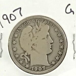 1907 Barber Silver Half Dollar      E8717