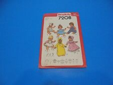 """Simplicity Sewing Pattern 7208 Doll Clothes Large Dolls 17""""-18"""" Vintage 1978"""