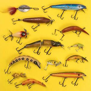 13 vintage retro fishing lures