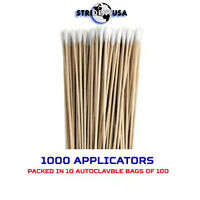 "Dental or Medical Cotton Tipped Applicators 3"" Autoclavable 1000 Pcs Swabs Q-Tip"