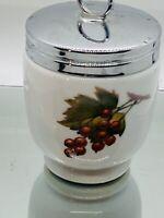 """Vintage Royal Worcester England Evesham Gold Porcelain Covered Jam Jar 3 1/2"""""""
