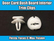 10x Clips For Ford Fiesta Fusion Door Card DashBoard Interior Trim White Plastic