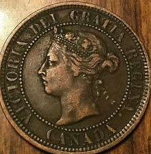 1888 CANADA LARGE CENT PENNY LARGE 1 CENT COIN - Nicer example!