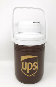 Coleman UPS Brown Thermos Water Cooler Jug W/ Handle United Parcel Service USA