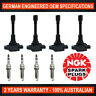 4x Genuine NGK Iridium Spark Plugs & 4x Ignition Coils for Nissan Altima L33