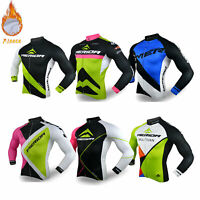 Merida Herren Langarm Winter Radtrikot Thermo Fleece Fahrrad Trikot Shirt S-XXXL
