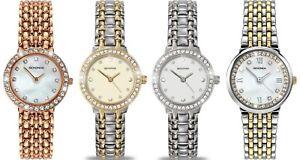 Sekonda Cubic Zirconia Crystal Set Dial Ladies Bracelet Watch