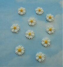 Daisy resin cabochon x 10, flat back, flower