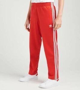 New Adidas Originals FM3814 Men's Firebird Pants Track Soccer Pants Red 2XL