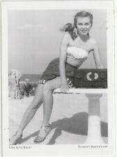 "*Postcard-""The Beach Girl with Radio"" -1950's- *Florida's Space Coast (#109)"