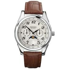 Sekonda 3503 Moon Phase Chronograph Day/Date 50m Leather Upper Watch RRP £69.99