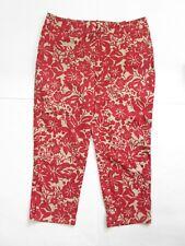 Talbots Capri Pants 12P Womens Petites Crop Casual Floral Pink Ankle Pants p12