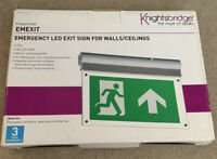 Knightsbridge LED 4W Emergency Fire Exit Sign 6000K Maintained / Non-Maintained
