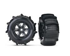 TRAXXAS TRA7773 Tires/Wheels Assm Glued Blk (xMaxx L&R)