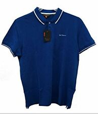 NWT Ben Sherman Men's Solid Polo Shirt Short Sleeve Skydiver Blue Size L