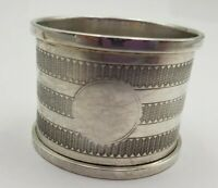 Vintage English Birmingham Sterling Silver Napkin Ring 1895  (#476)