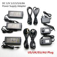 AC110 220V Power Supply Adapter plug Transformer LED Strip 1A 2A 3A 8A DC 12V