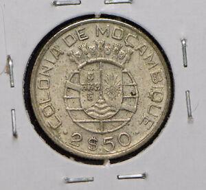 Mozambique 1938 2 1/2 Escudos 150242 combine