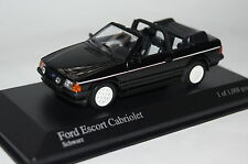 Ford Escort III Cabrio 1983 schwarz 1:43 Minichamps neu + OVP 400085031
